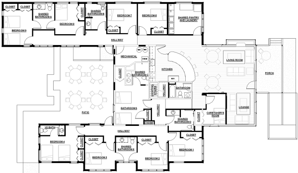 3317 Square Feet 4 Bedrooms 3 5 Bathroom Contemporary House Plans 3 Garage 32890 as well Cite A Docks Student Housing Le Havre Plans 04 furthermore Understanding Memory Care additionally 11a213bdad1f7e49 Ranch House Additions Small Ranch House Floor Plans additionally 3556 1fp. on home floor plans and designs
